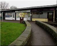 ST2896 : Walled path to Lloyds Pharmacy, West Pontnewydd, Cwmbran by Jaggery