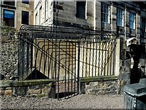 NT2674 : Old Calton Graveyard Mortsafe by Mary and Angus Hogg