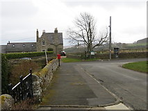 NY9449 : Road from St James' Church to main road in Hunstanworth by Peter Wood