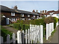 TQ4446 : Cottages in Lingfield Road by Marathon
