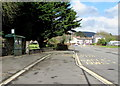 ST2994 : Oakfield Road bus stop and shelter, Cwmbran by Jaggery