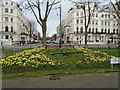 TQ2904 : Floral Clock - Palmeira Square by Paul Gillett