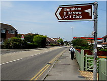 ST3050 : Turn left here for Burnham & Berrow Golf Club, Burnham-on-Sea by Jaggery