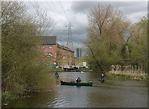 SK5702 : Canoeists on the Grand Union Canal by Mat Fascione