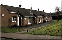 ST2896 : Row of four houses, Heol y Pwca, West Pontnewydd, Cwmbran by Jaggery