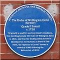SD8913 : Blue Plaque: Duke of Wellington Hotel by Gerald England
