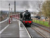 SD8022 : Steam Train Arriving at Rawtenstall by David Dixon