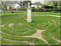 TL2966 : Hilton Turf Maze and Sparrow's Monument by M J Richardson