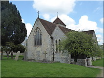 TR0650 : Church of St. Lawrence the Martyr, Godmersham by pam fray