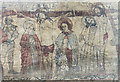 SE7984 : Crucifixion wall painting,  Ss Peter & Paul church, Pickering by J.Hannan-Briggs