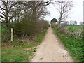 TL1625 : Footpath junction on a byway, Kings Walden by Humphrey Bolton