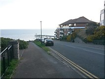 SZ1191 : Boscombe: footpath F08 diverges from The Marina by Chris Downer