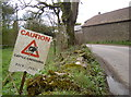 ST4955 : Caution - cattle crossing! by Neil Owen