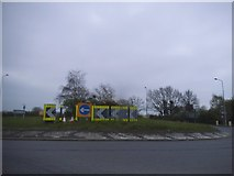 TM1227 : Roundabout on the A120, Horsley Cross by David Howard