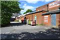SK0405 : Rear of High Street shops, Brownhills by Robin Stott