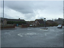 NS7177 : Roundabout on Glasgow Road, Kilsyth by JThomas