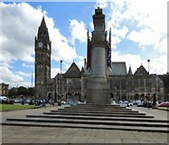 SD8913 : Rochdale War Memorial and Town Hall by Gerald England
