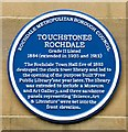 SD8913 : Blue plaque: Touchstones by Gerald England