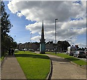 SD8913 : Manchester Road Spire by Gerald England
