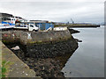 NS3174 : Boat yard at Port Glasgow by Thomas Nugent