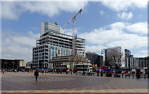 SP0686 : Looking south-east from Centenary Square in Birmingham by Roger  Kidd