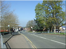 SO8555 : Bus stop on Shrub Hill Road, Worcester  by JThomas