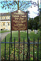 TM4189 : St.Benedict's Catholic Church sign by Geographer