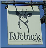 SP0858 : Sign for the Roebuck Inn, Alcester by JThomas