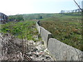 SE0528 : Strange concrete wall alongside Brow Bottom Lane, Mixenden by Humphrey Bolton