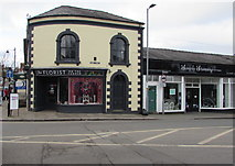 SO6024 : Shops at the southern end of Henry Street, Ross-on-Wye by Jaggery