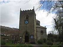SK2375 : St Martin's Church, Stoney Middleton by John Slater
