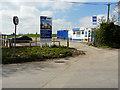 TQ8565 : Sales office for Newington Grange, School Lane by John Baker
