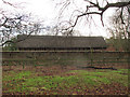 SJ7581 : Cruck Barn at Tatton Old Hall by Stephen Craven
