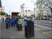 TQ2882 : Bus stop and shelter outside Great Portland Street London Underground Station by JThomas