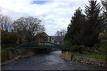 NY2623 : River Greta footbridge by Robert Eva