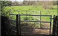 ST3093 : Kissing gate below Llanfrechfa Way, Cwmbran by Jaggery