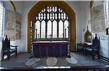 ST6601 : Cerne Abbas, St. Mary's Church: The altar and fragments of early c14th wall paintings by Michael Garlick