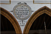 ST6601 : Cerne Abbas, St. Mary's Church: Painted wall text in the nave 1 by Michael Garlick