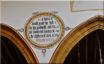 ST6601 : Cerne Abbas, St. Mary's Church: Painted wall text in the nave 2 by Michael Garlick