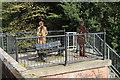 NX9777 : Sculptures beside Maxwelltown Path by Billy McCrorie