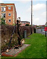 ST2937 : Old anchor alongside Northgate, Bridgwater by Jaggery
