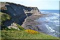 NZ9507 : Wave-cut platform at Far Jetticks by David Martin