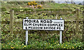 J2358 : Moira Road name sign, Hillsborough (April 2017) by Albert Bridge
