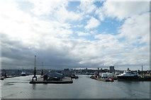 NJ9505 : Leaving Aberdeen Harbour by Mike Pennington