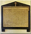SD5805 : Memorial in the Walmesley Chapel by Gerald England