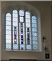 SD5805 : Medieval glass in All Saints by Gerald England