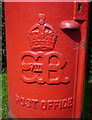TQ2698 : Cypher, Edward VIII postbox on Waggon Road, Hadley Wood by JThomas