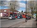 SP3383 : Shops, Wheelwright Lane by Niki Walton
