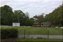 TQ0866 : Manor Park cricket ground by Robert Eva