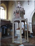 TG2834 : St Botolph, Trunch: font canopy (3) by Basher Eyre